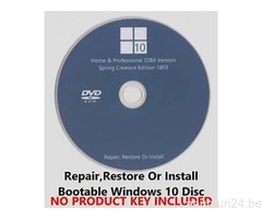 DVD Windows 7 / 8 / 10